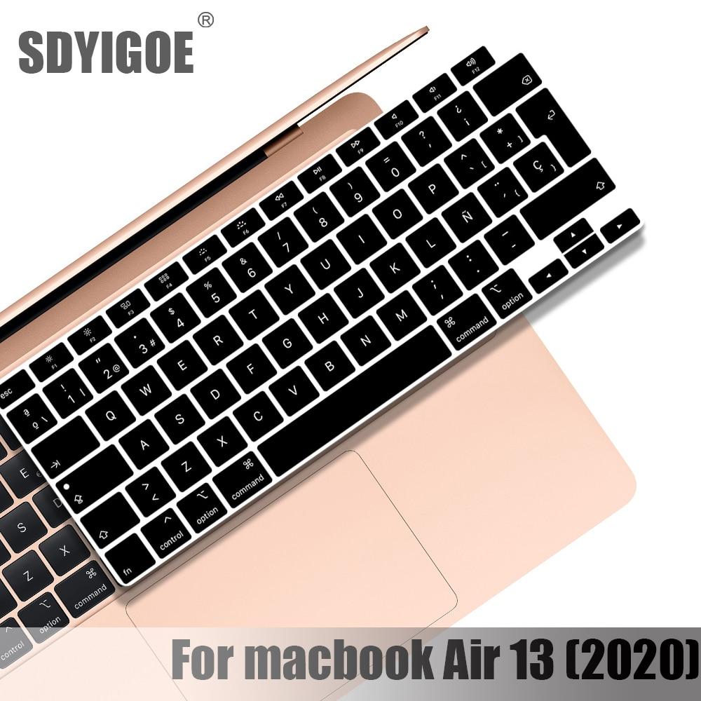 Чехол для клавиатуры Macbook Air 13 2020, Защитная пленка для ноутбука 13 дюймов, A2179, силиконовый чехол для клавиатуры, русские, французские, испански...