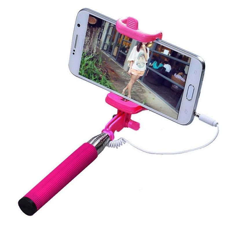 Liga de alumínio Tripé Monopé Handheld Extensível Self-Pólo Vara Para Smartphone 7 segmentos 30AUG02