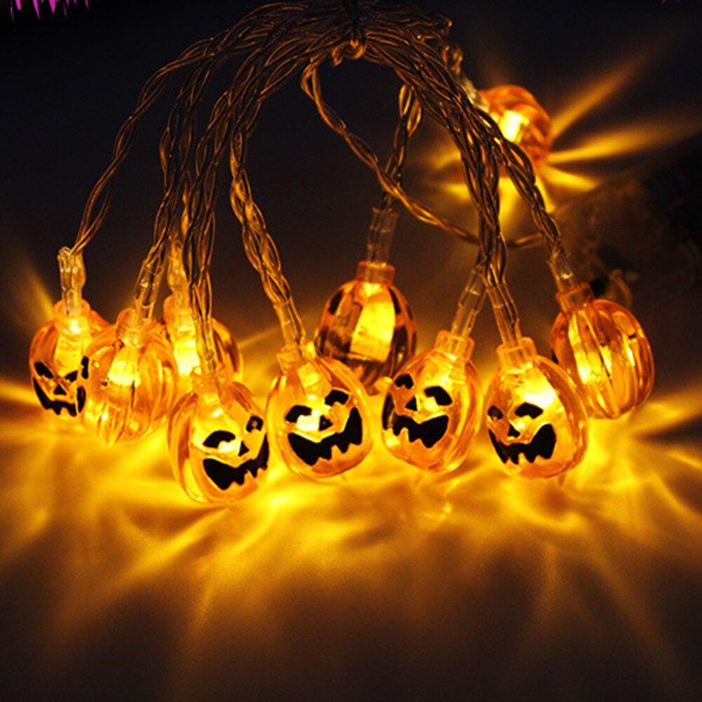 Lámparas de tira de calabaza portátiles 3m, farol LED, luces de hadas, fiesta, jardín, iluminación, adornos de fantasmas, centro comercial, diseño de escena