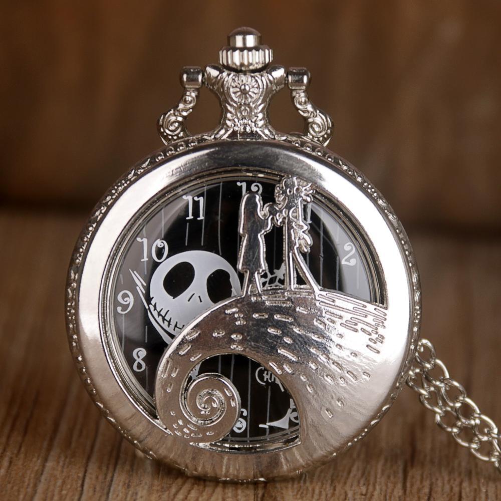 Clásico El Principito película planeta plata reloj de bolsillo de cuarzo Vintage reloj Fob regalos populares para niños niñas niños