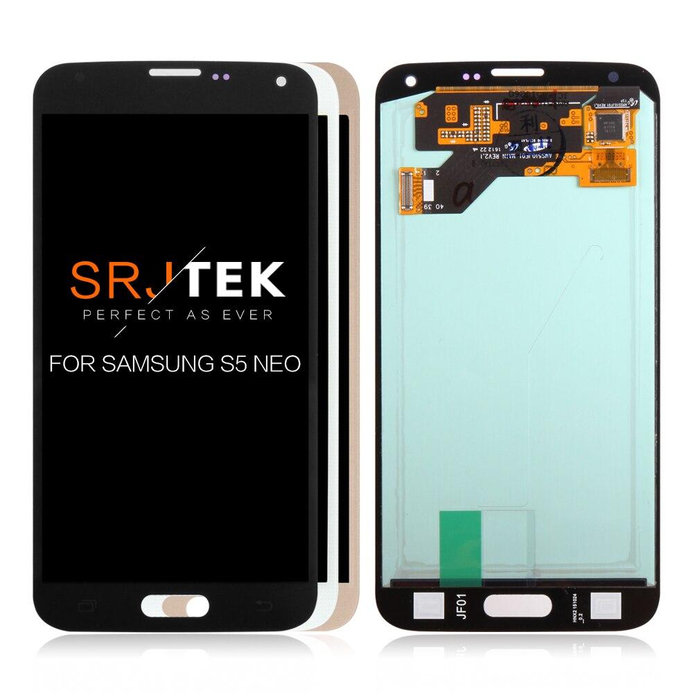 "5,1 ""SUPER AMOLED para Samsung Galaxy S5 Neo G903 G903F LCD pantalla táctil digitalizador montaje para S5 Neo reemplazo de pantalla"