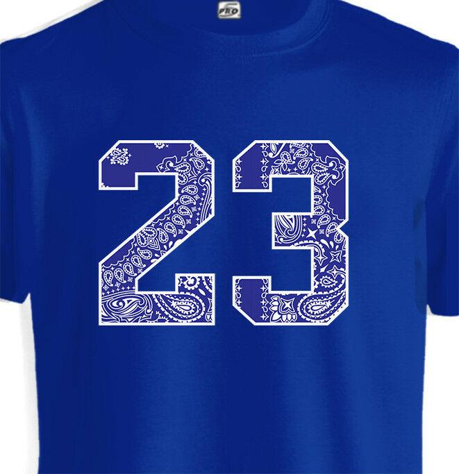 #23 Bandana paisley Crip Retro patea desgaste urbano XI IV V VI camiseta zapatilla cabeza