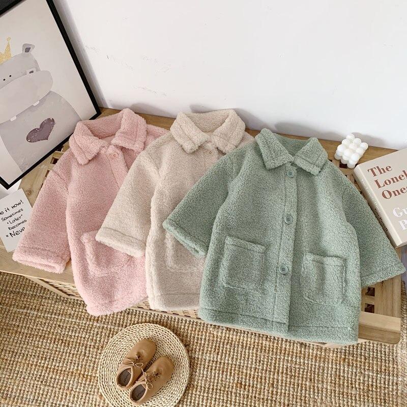 سريع السفينة 2019 الخريف والشتاء جديد ثوب أطفال ثوب أطفال بنات الألبكة معطف طويل معطف للأطفال