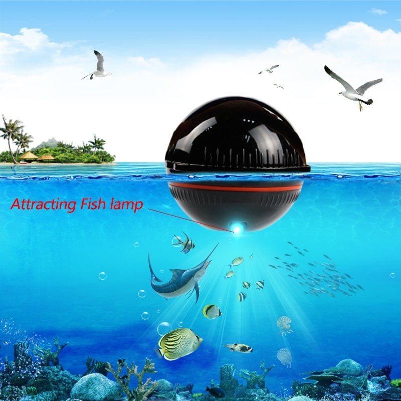 48M/160ft Fish Finder Smart Wireless Portable Wireless Sonar Fishfinder Compatible With Phone  For Dock Shore Boat Ice Fishing enlarge
