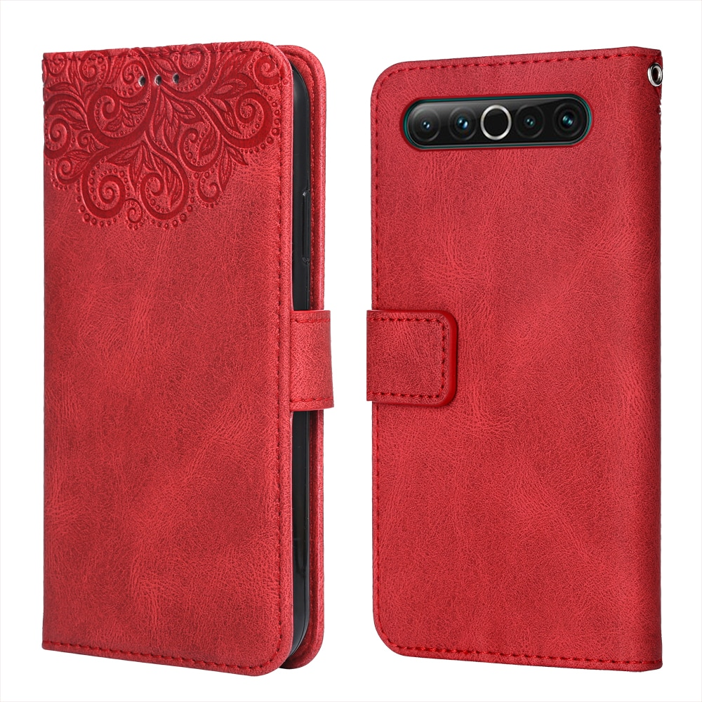 Luxury Leather Case for Meizu 17 Flower Embossing Wallet Flip Phone Case for Meizu17 Cover Card Slot