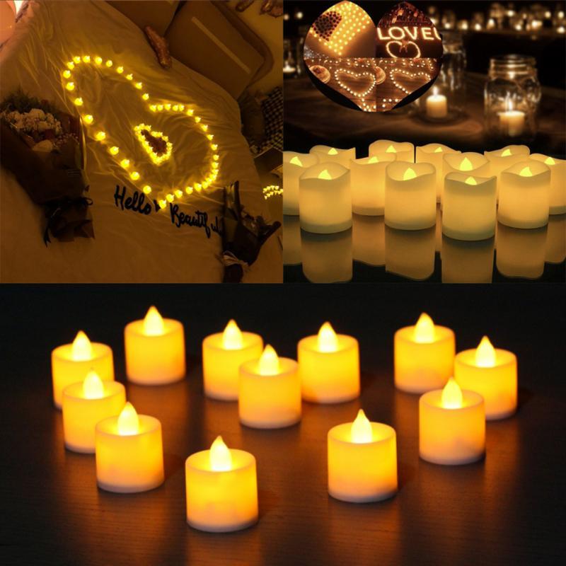 Velas Decorativas alimentadas por batería, luces Led de té, luz Led tipo...