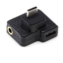 CYNOVA DJI Osmo adaptateur de Microphone daction 3.5MM type-c adaptateur de charge de données Audio externe 3.5MM support de micro pour Osmo Action