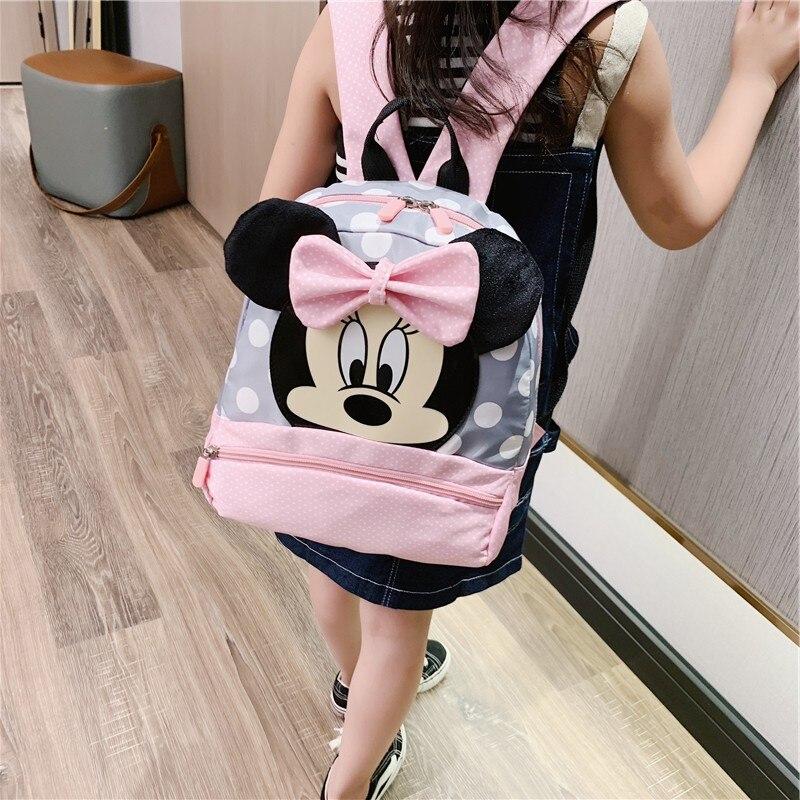 Nuevo bolso para niños de jardín de infantes dibujos animados Mickey mochilas escolares Rosa Minnie mochilas princesas mochilas mochila para niños niñas