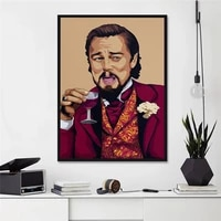 funny people drinking red wine posters and prints abstract canvas painting leo art pictures living room home decoration painting