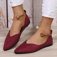 elegant summer women flat shoes loafers ankle metal decoration pointed toe shallow soft sole fashion design ladies shoes female