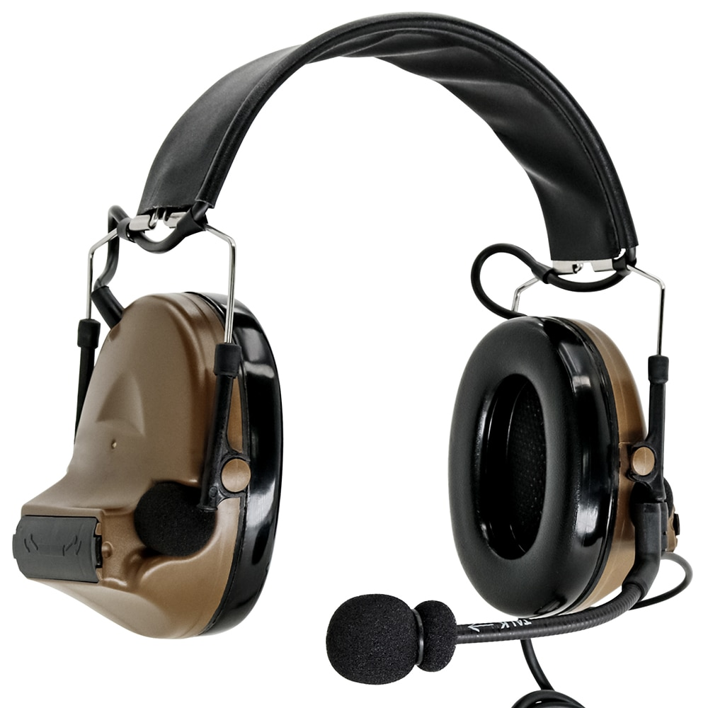 Tactical Headset Noise Reduction Electronic Pickup Headphone Protect Hearing COMTAC II Headset and Tactical Ptt U94 Kenwood Ptt enlarge