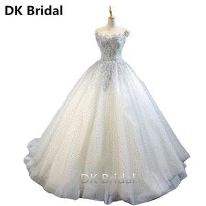 Light Gray Boat Neck Luxury Evening Dresses Bling Beaded Open Back Floor Length Party Formal Dress Robe De Soiree Prom Dress
