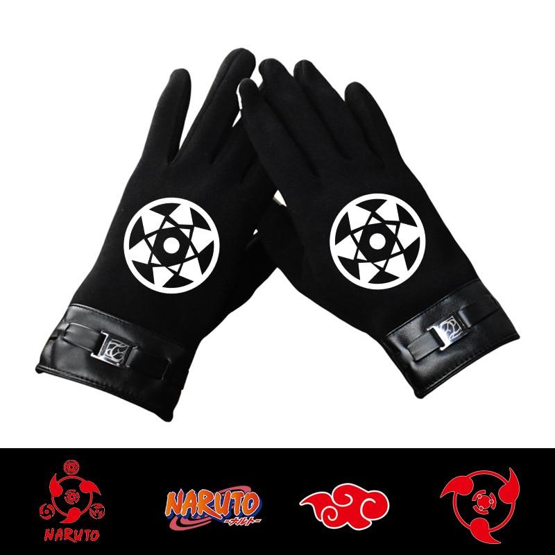 Adolescentes Ninja Mutantes engrosado Kakasi Luz de ojo redondo de la noche pantalla táctil cálido dedo completo guantes de invierno de Ciclismo de los hombres