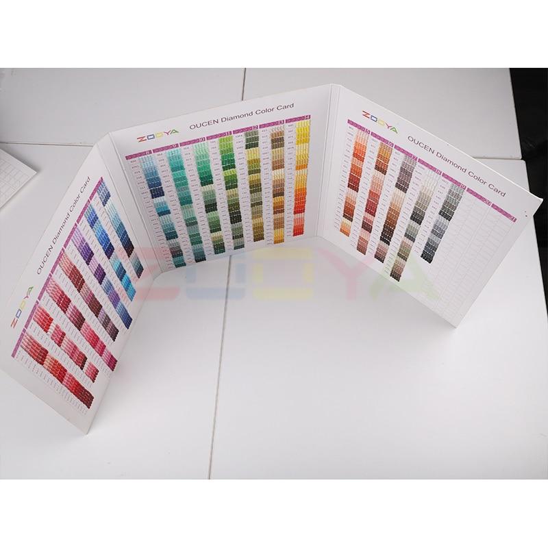 5D полностью квадратная/круглая Алмазная дрель инструмент для рисования 447 DMC Алмазная ручная работа цветная карта со стразами цветная идент...