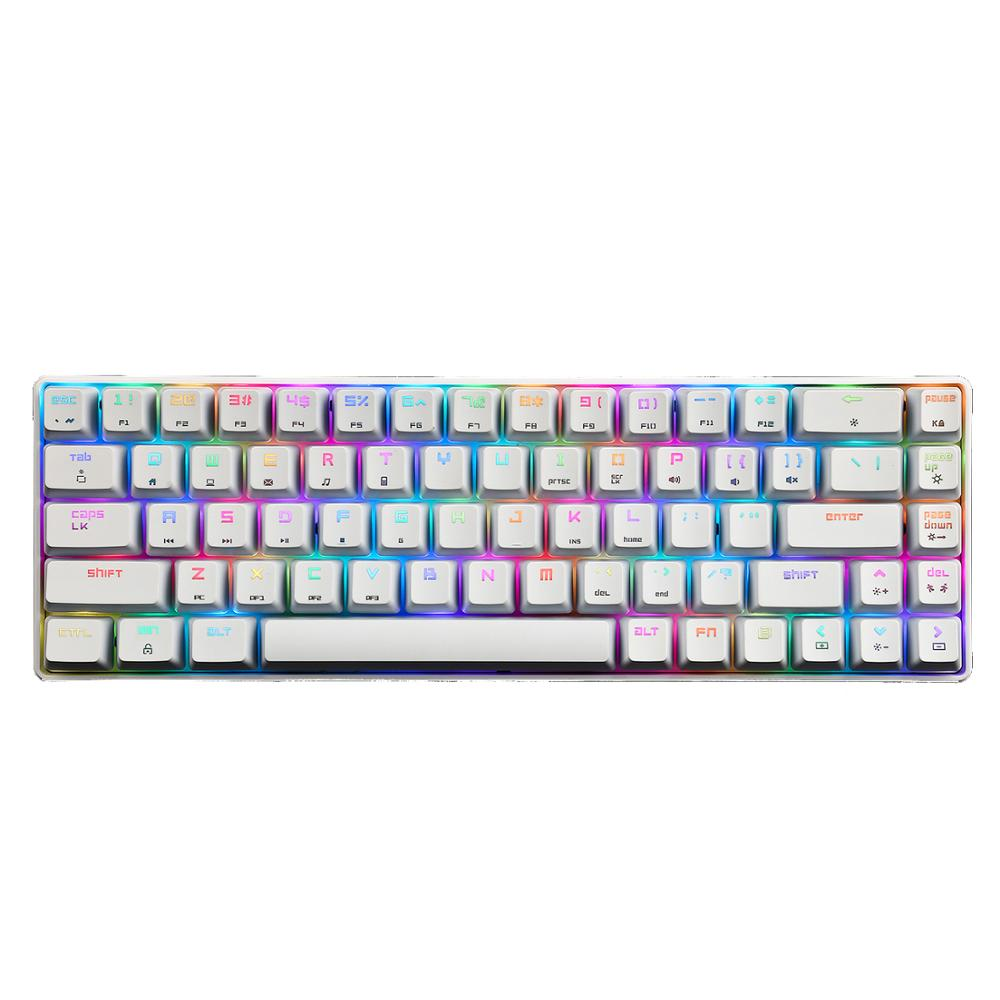 لوحة مفاتيح ميكانيكية MK14 ، مع إضاءة خلفية RGB ، 86 مفتاحًا ، واجهة USB ، لمشغل الألعاب ، المكتب ، المنزل