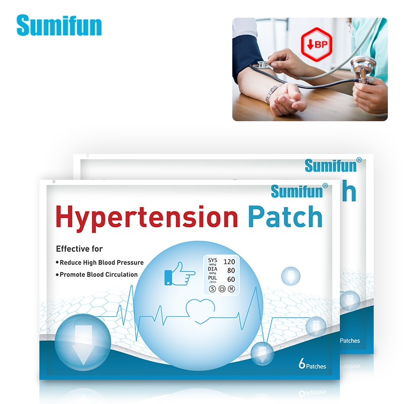 Sumifun 6/12/30pcs Hypertension Patch Herbal Medical Plaster Reduce Control High Blood Pressure For Blood Vessel Plaster D3568