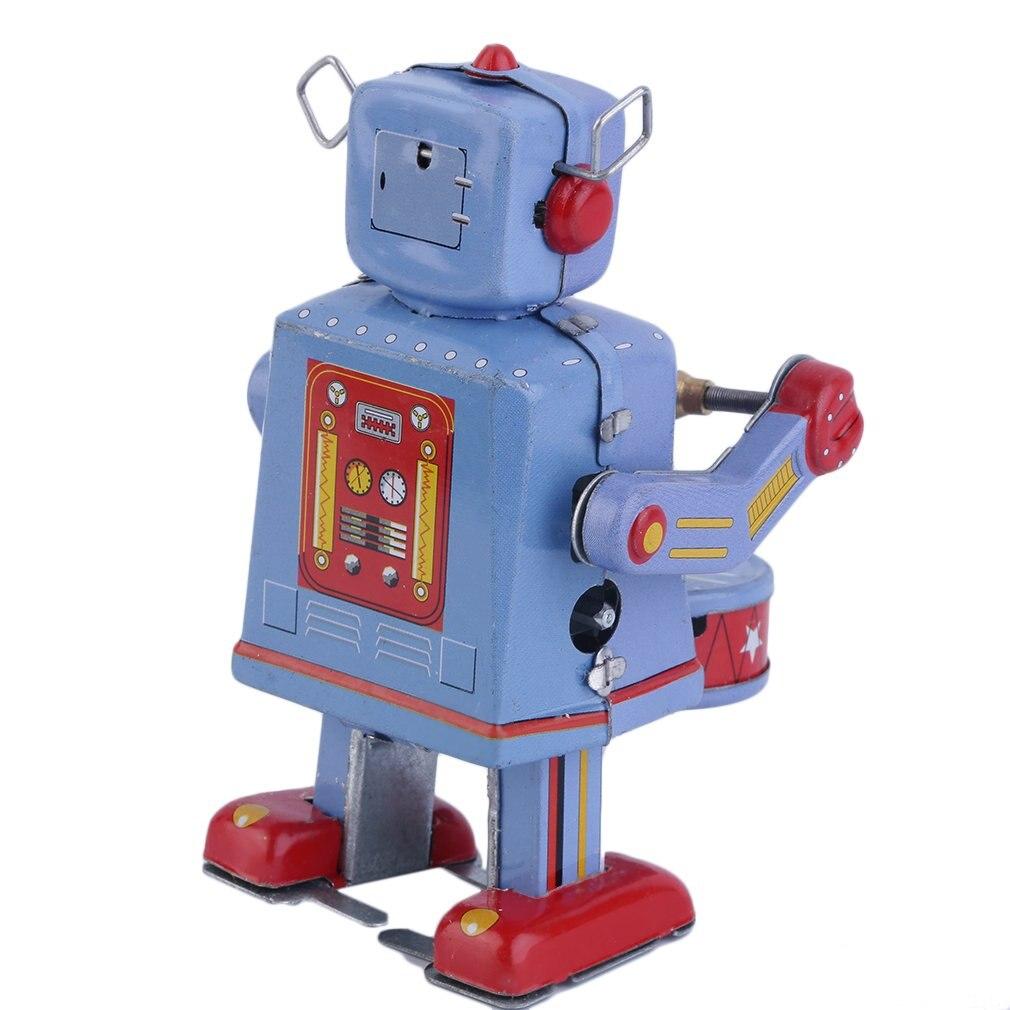 OCDAY-Robot de cuerda Vintage de estaño para niños, juguetes clásicos coleccionables, regalos...