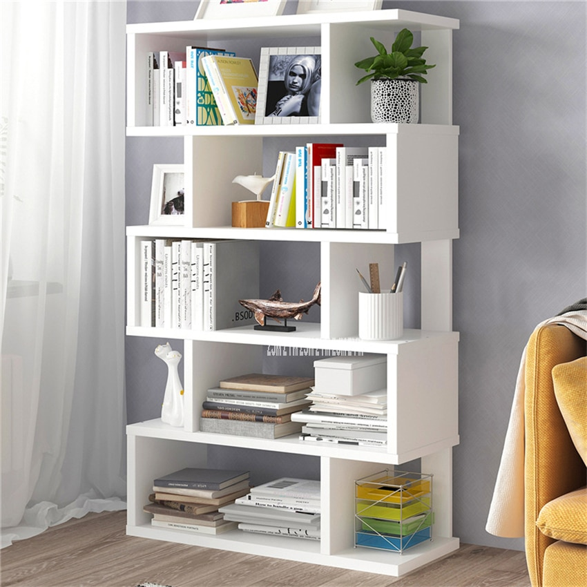 Sala de estar ahorro de espacio pequeño tablero hecho a mano estantería dormitorio moderno Simple multifuncional estudiante expositor librería