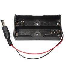 Plastique 2x3.7V 18650 batterie boîte de rangement support 2 fentes avec fils et connecteur cc pour 2 pièces 18650 Batteries au Lithium