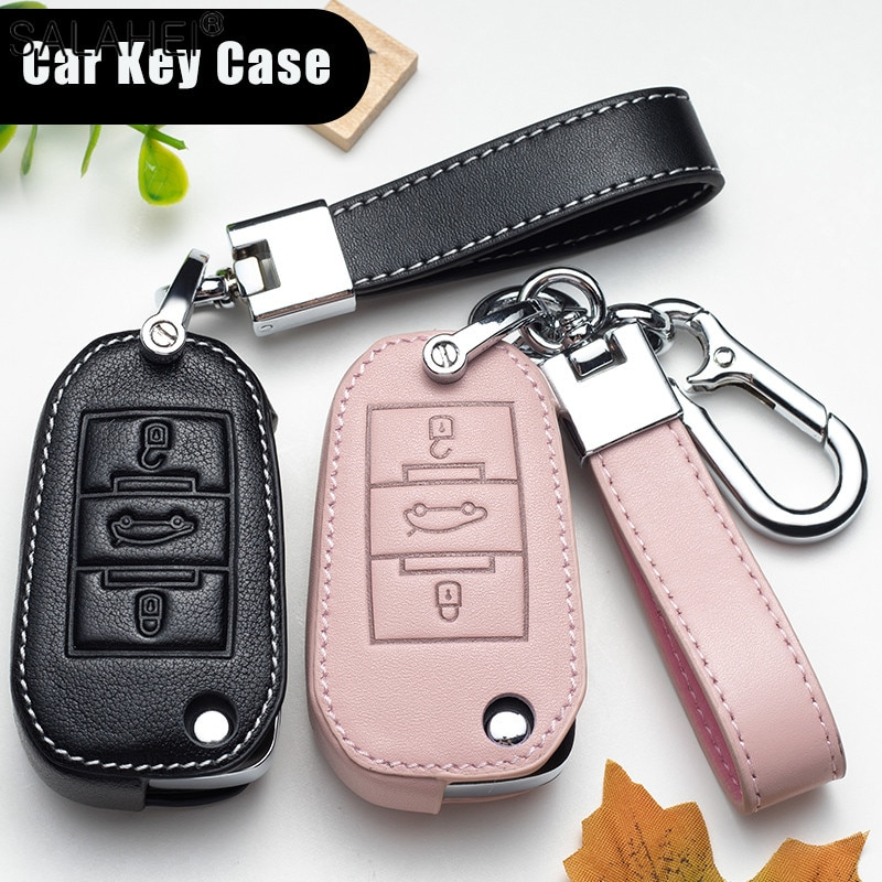 leather car key case cover for citroen c3 c4l c5 c6 c8 c3 xr picasso xsara ds7 for peugeot 301 308 308s 408 2008 3008 4008 5008 Leather Car Remote Key Cover Case Holder Protect For Peugeot 208 207 300 301 308 308S 408 2008 3008 4008 5008 For Car Accessorie