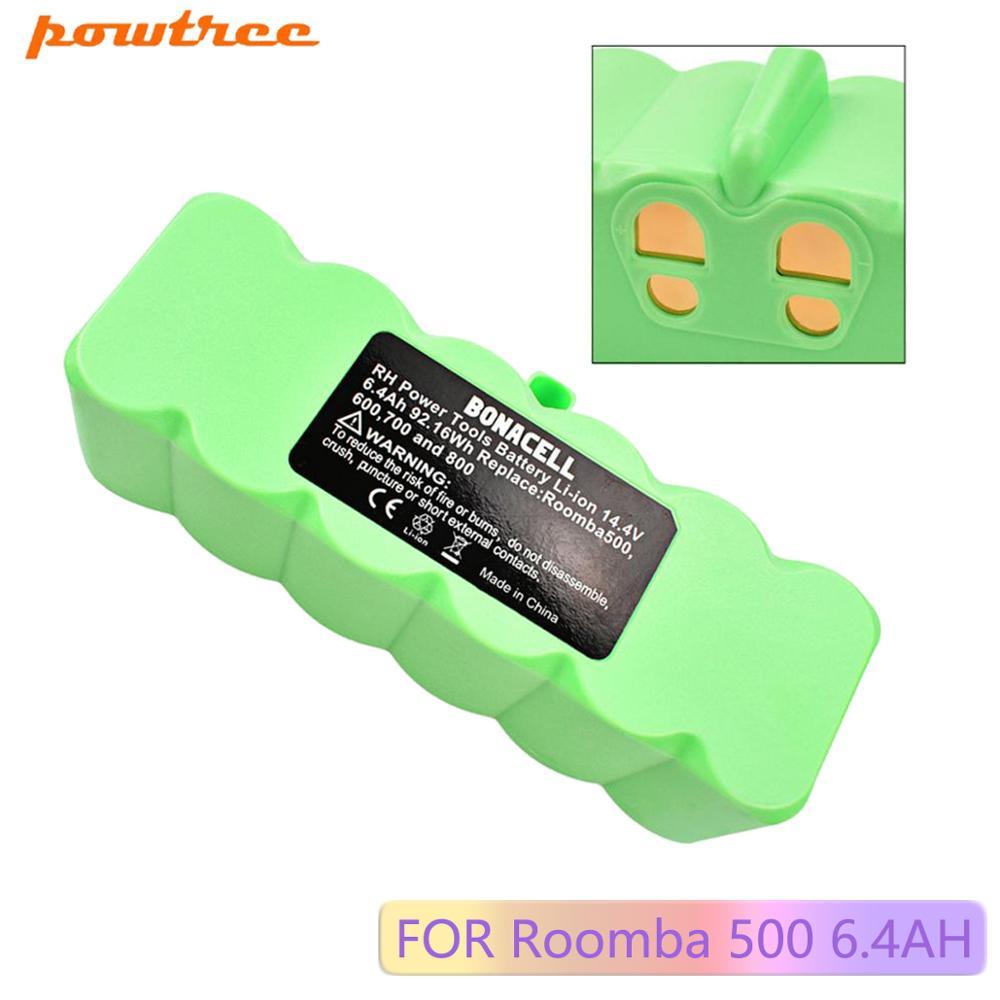 Powtree 6400mAh 14.4V Bateria para iRobot Roomba 500 600 700 800 Series Vacuum Cleaner iRobot roomba 600 620 650 700 770 780 800