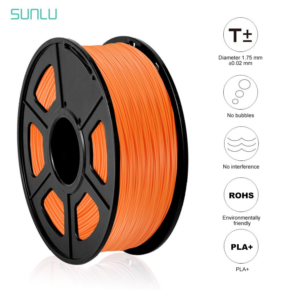 SUNLU PLA PLUS 3D Printer Filament 1.75mm 1KG 2.2LBS PLA+ DIY 3D Printing Material With Spool 3D Print Vacuum Packing Fast Ship