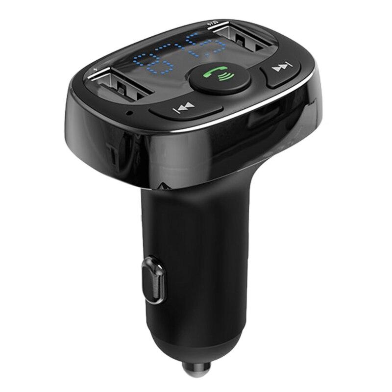 Cargador de coche para Iphone teléfono móvil manos libres Fm Transmisor Bluetooth coche Kit Lcd Mp3 reproductor Dual Usb coche 4,2 rápido carga de Pho