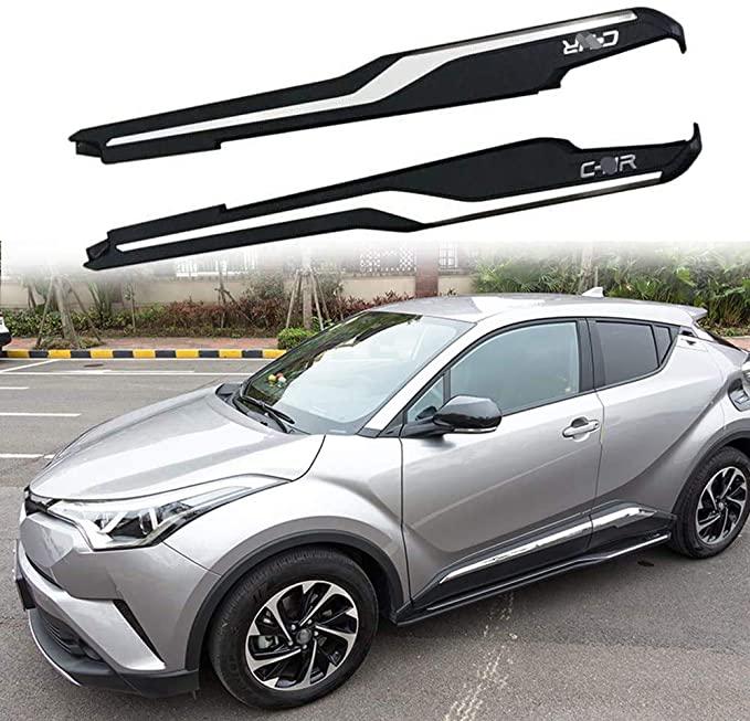 2Pcs Fit für Toyota- C-HR CHR 2016 2017 2018 2019 2020 Aluminium Tür Befestigt Seite Schritt Trittbrett plattform Nerf Bar Protector