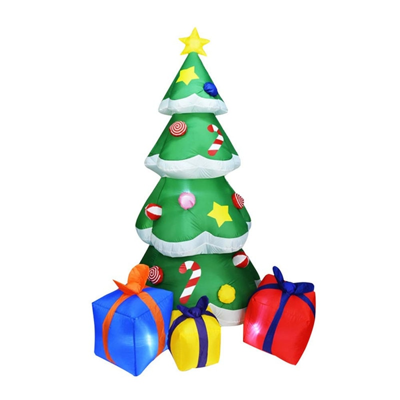 2.1M Glow Christmas Tree Christmas Inflatable Model Christmas Utenciles Christmas Candy Cane Gift Holiday Lighting Outdoor Luces
