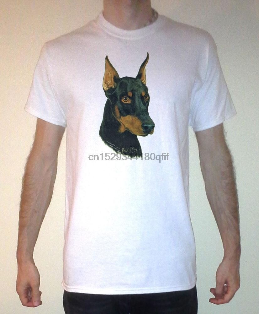 Doberman pinscher gráfico manga curta camisa tamanhos S-XL
