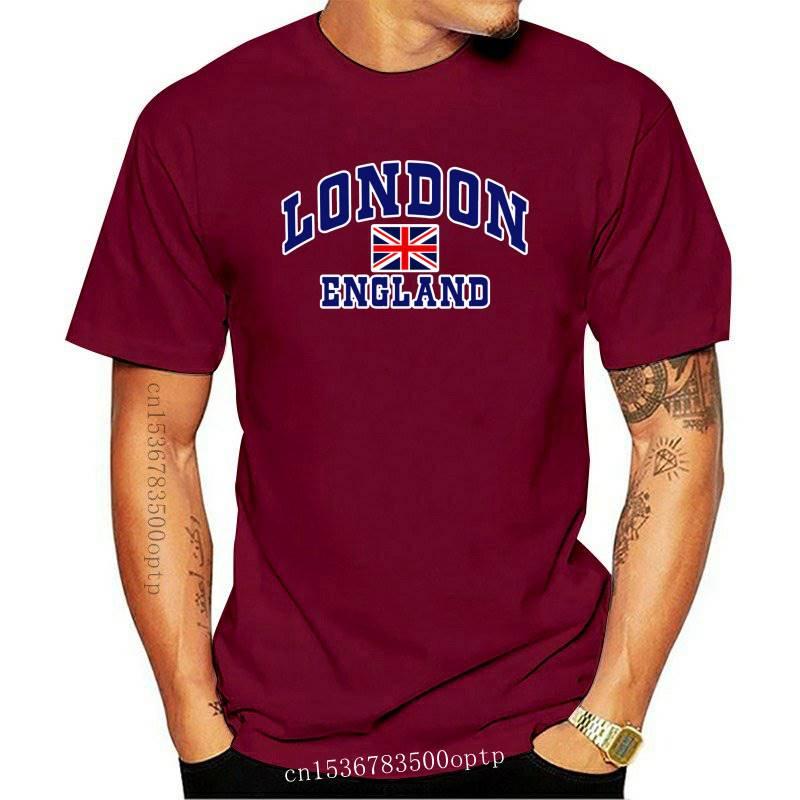 LONDON ENGLAND PRINTED UNISEX T-SHIRT TRENDY GREAT BRITAIN UNION JACK TEE TSHIRT-1342D