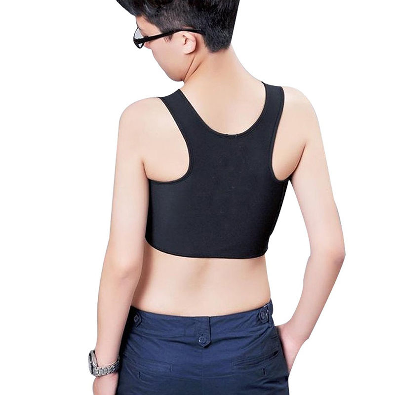 1pc envolto peito forro é confortável e macio corpo moldar fivela respirável peito curto peito binder trans casual colete topos