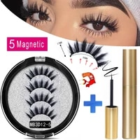 mb 2020 long magnetic eyelashes 5 magnet false eyelashes makeup extension 3d mink lashes faux cils magnetique naturel tweezers