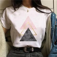 Women's Clothing Summer Short Sleeve Geometry Printed T Shirt Women Graphic Tshirt Harajuku Tops Tee