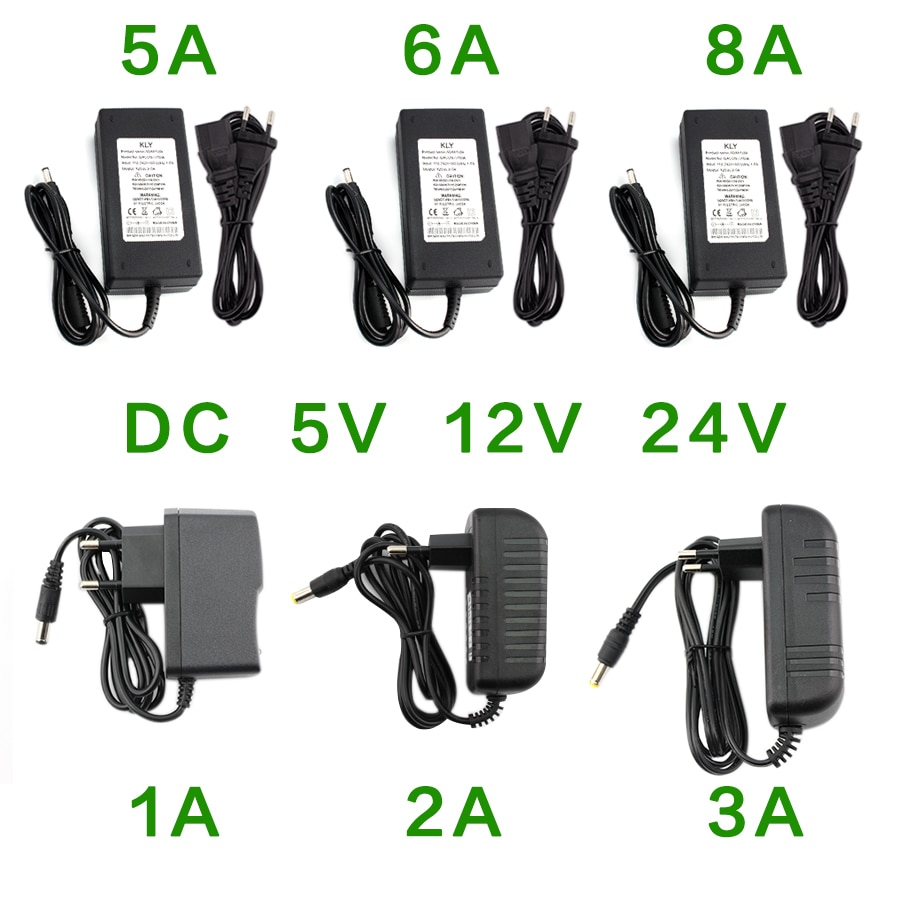 Power Supply Adapter DC 5V 12V 24V 1A 2A 3A 5A 6A 8A Universal Charger DC 5v 12v 24V Hoverboard Charger AC 220V to 12 24 V