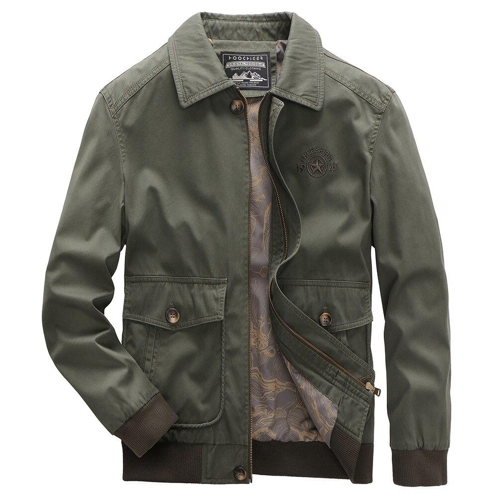 جديد الخريف جاكيتات الرجال عادية بدوره إلى أسفل طوق بلايز الرجال الملابس حجم كبير 4XL 5XL أبلى معاطف رجالي سترة عسكرية MY261