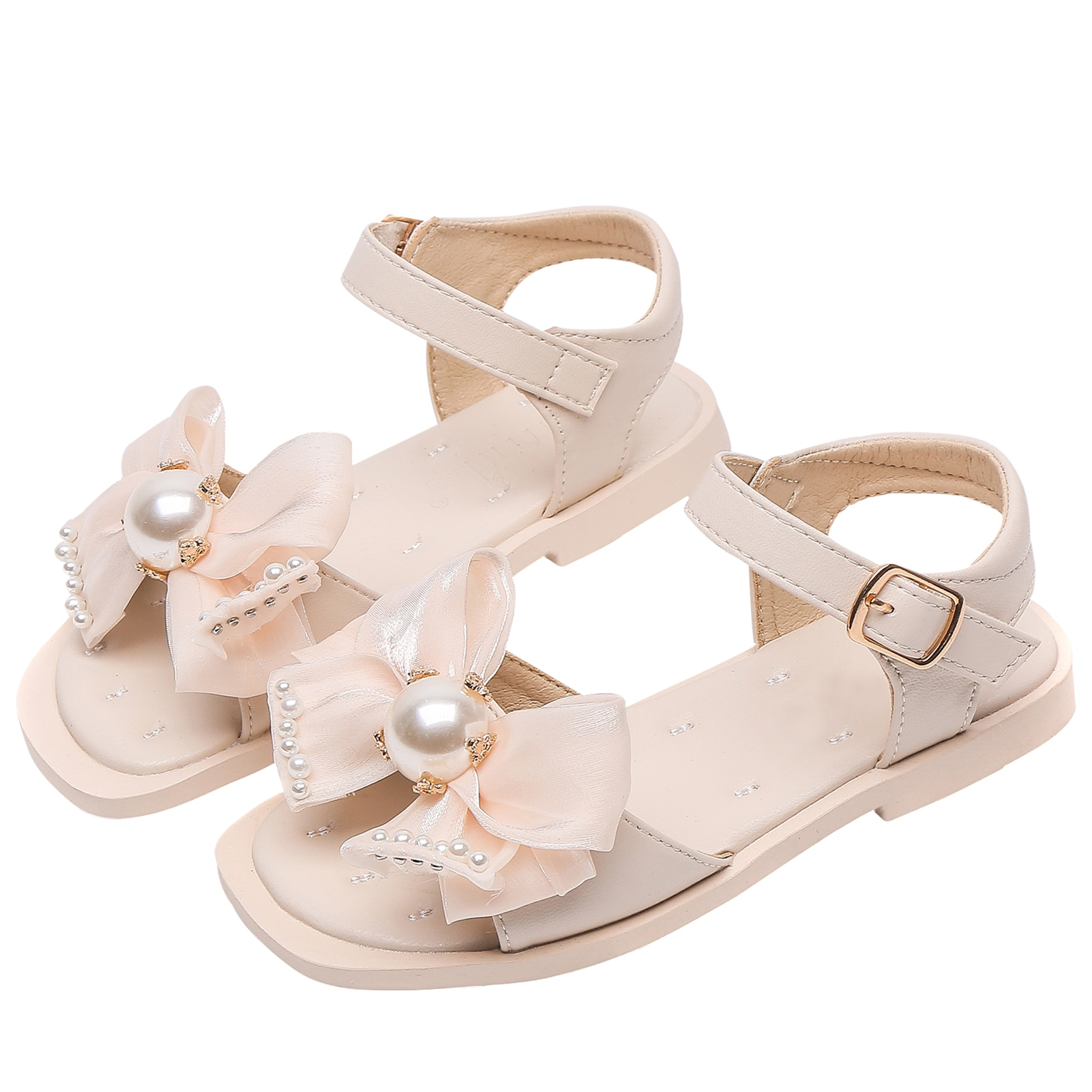 Girl Sandals Bow-knot Kids Shoes Microfiber Leather Open-toed Princess Sandals Fashion Breathable Child Baby Girls Summer Daily