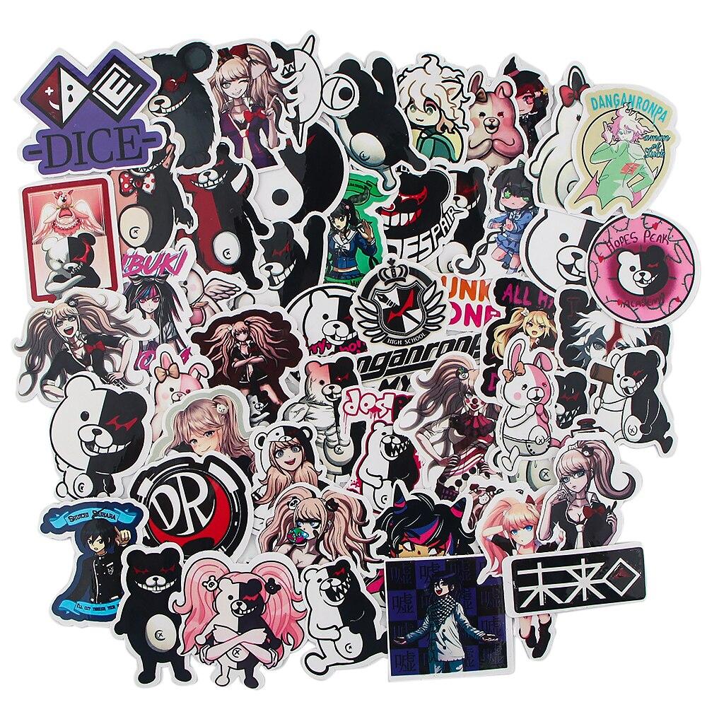 lx579-52-pz-nessun-ripetitore-adesivi-account-mano-danganronpa-pvc-valigia-skateboard-laptop-piano-body-sticker-regalo-di-compleanno