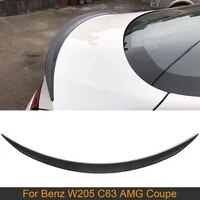 for w205 rear trunk spoiler wing for mercedes benz w205 c63 amg coupe 2 door 15 17 rear trunk boot lip wing spoiler carbon fiber