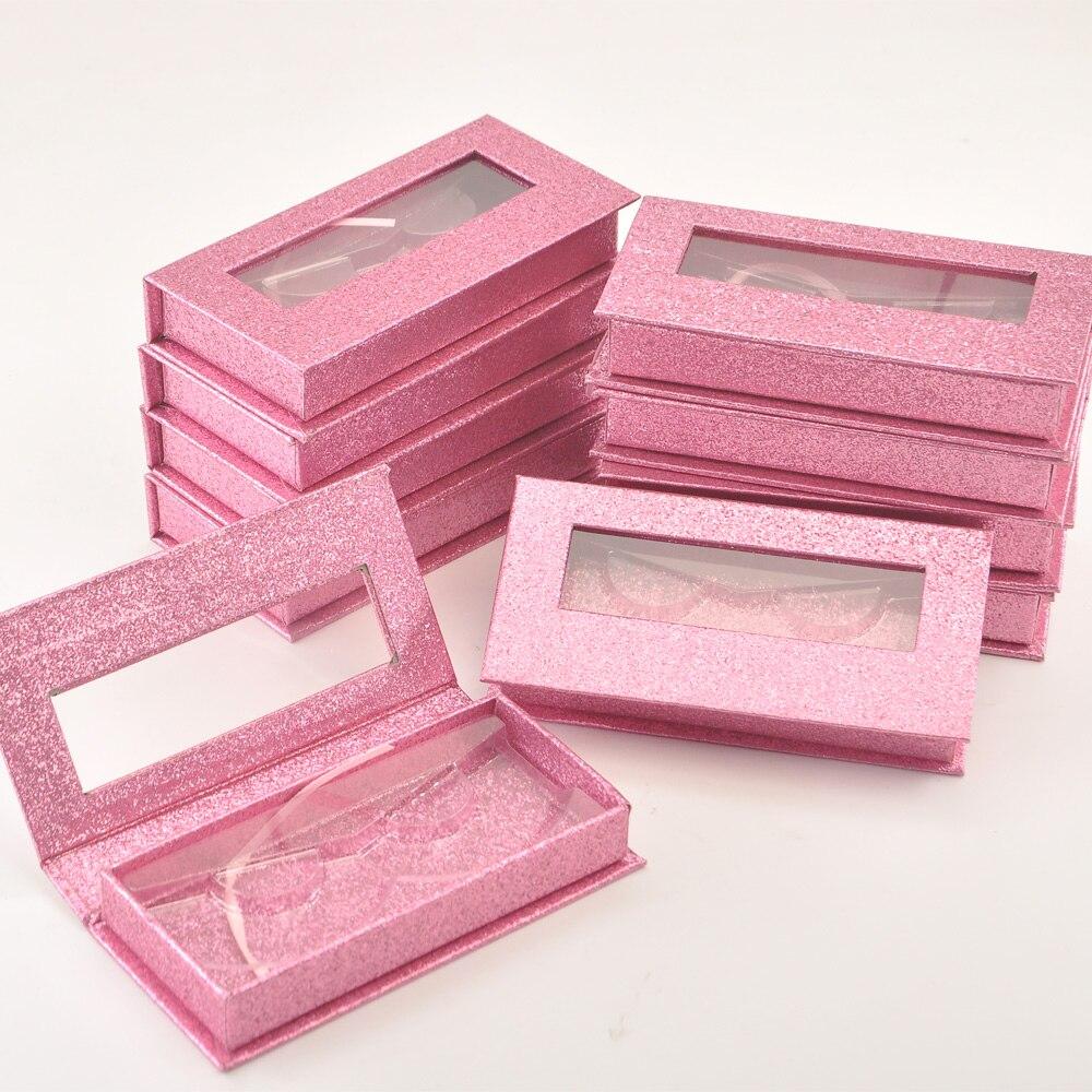 Caixa de Embalagem de Cílios Caixas de Chicote Case de Etiqueta Pacote Logotipo Personalizado Lavanda Magnética 25mm Cílios Postiços Maquiagem Privada Fornecedor