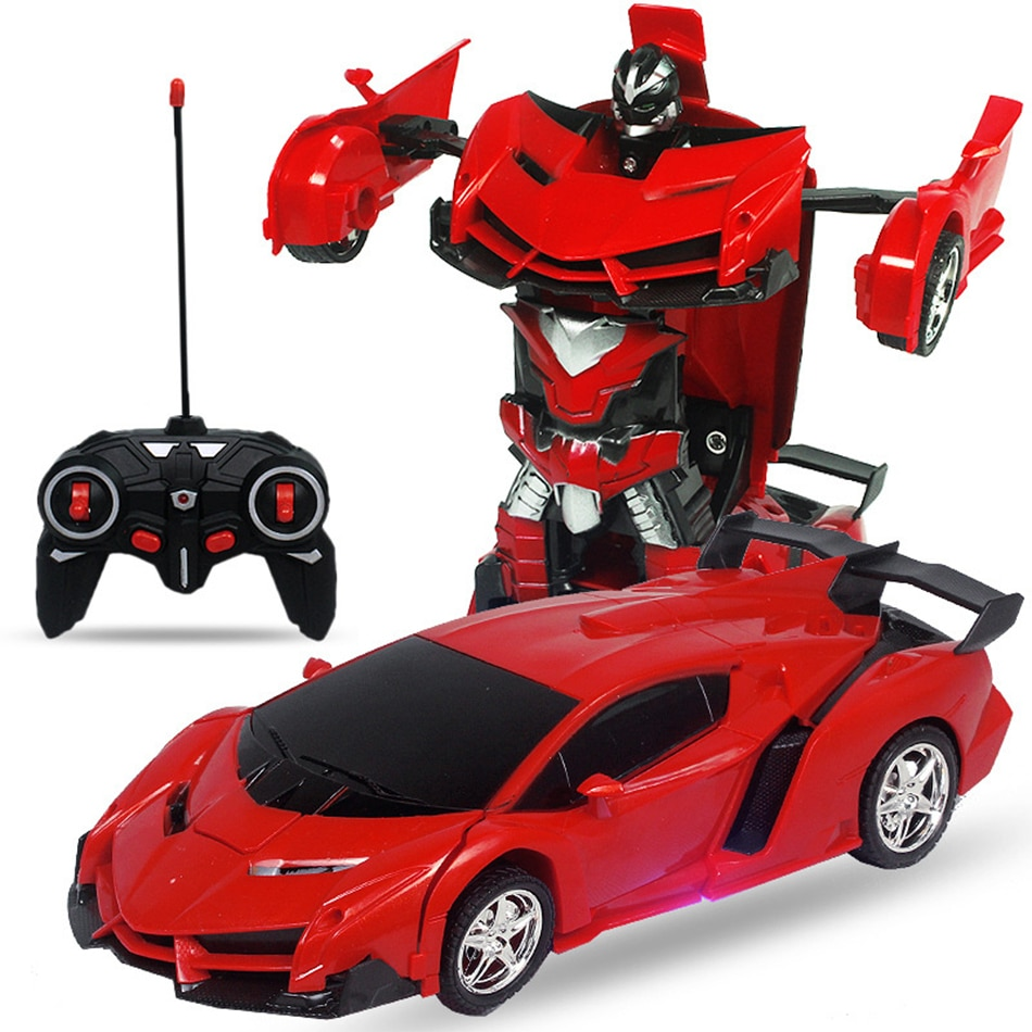 Remote Control One-key Automatic Transform Robot Deformation Car Toys Plastic Model Funny Action Figures for Boys Gifts Kid enlarge