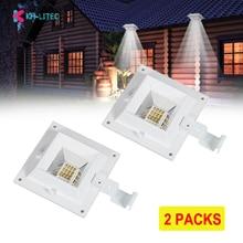 2PCS 12 LED Motion Sensor Solar Powered Gutter Light Outdoor Garden Yard Wall Fence Lamp Outdoor Lighting Street Solar Lights