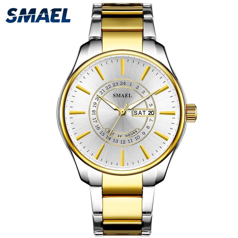 SMAEL Watch for Men New Fashion Sports Steel Mens Quartz Wirstwatches Top Brand Luxury Life Waterproof Wrist Watches Relogio