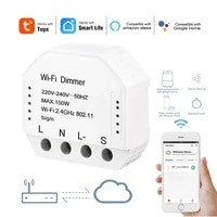 Tuya WiFi LED Dimmer Light Switch Home Automation Diy Breaker Module Smart Life APP Remote Control Works with Alexa Google Home