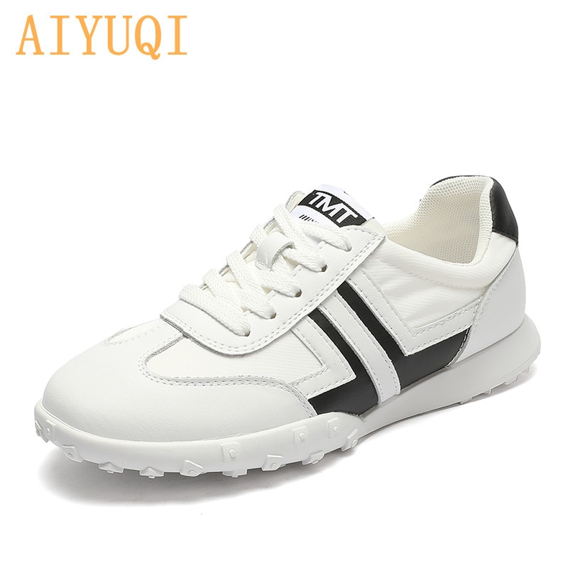 AIYUQI White Sneakers Women Genuine Leather 2021 Summer New Flat Casual Sneakers Loafers Women Students Shoes Women