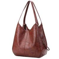 vintage shoulder bag female pu leather womens bag designers 2021 luxury totes fashion top handle bags travel handbag for ladies