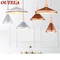 outela nordic pendant lights modern simple led lamp fixtures for home decorative dining room