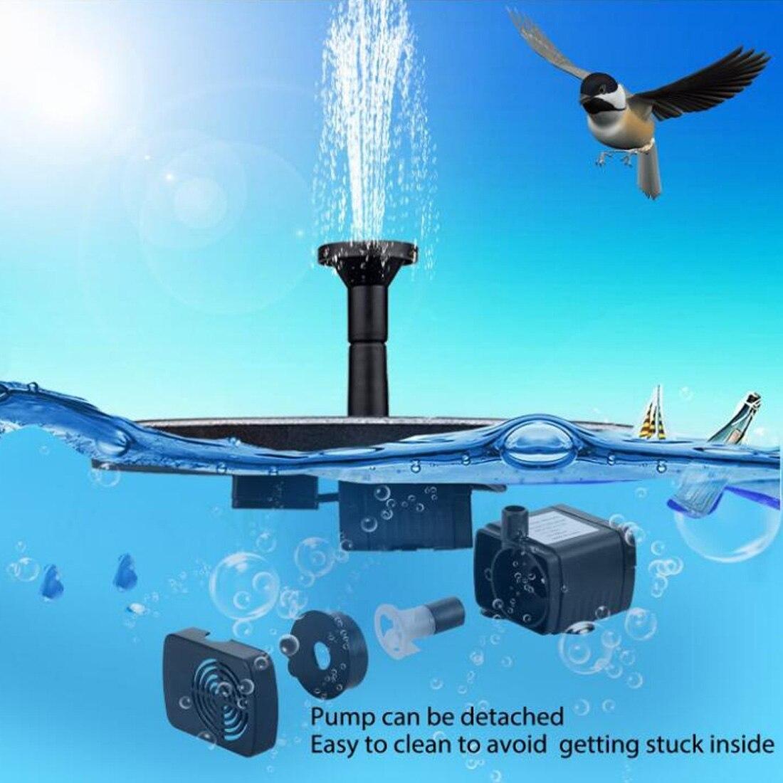 Panneau dalimentation solaire fontaine 30-65cm Mini piscine Submersible étang pompe à eau arrosage extérieur jardin oiseau bain flottant décor