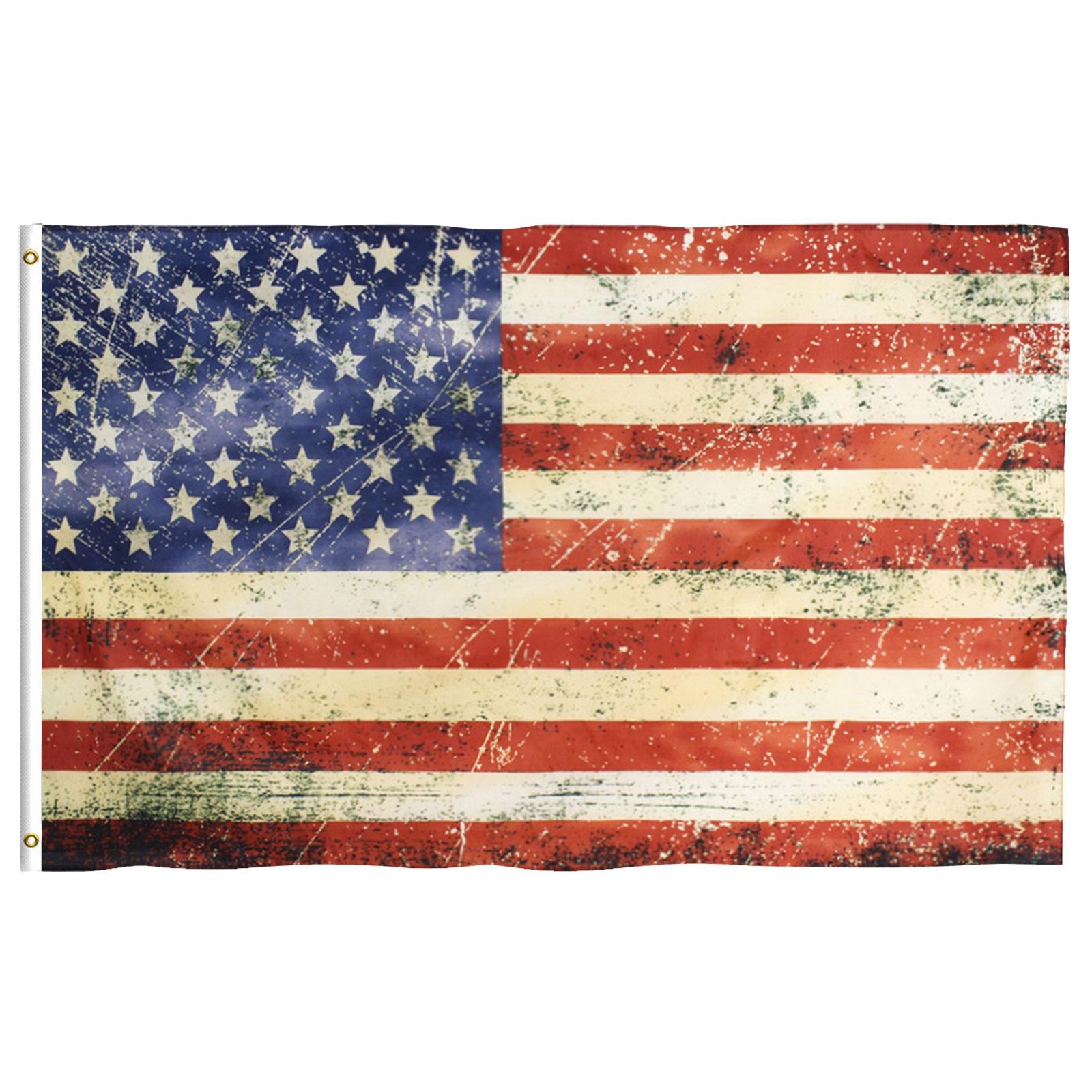 Banderas de jardín americanas Bandera de poliéster, arandelas de latón, decoración de...