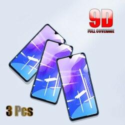 3 pçs capa completa de vidro temperado para xiaomi redmi nota 8 7 pro 9 pro max 9s 8t 10 protetor de tela para redmi 10x k30 pro 7a filme